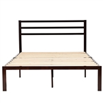Full Size Headboard Only Espresso Steel Platform Bed Frame