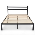 Full Size Headboard Only Black Steel Platform Bed Frame