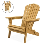 Adirondack Large Foldable Chair Natural Finish