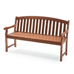 Outdoor Weather Resistant Wood 5-Ft Garden Bench in Natural
