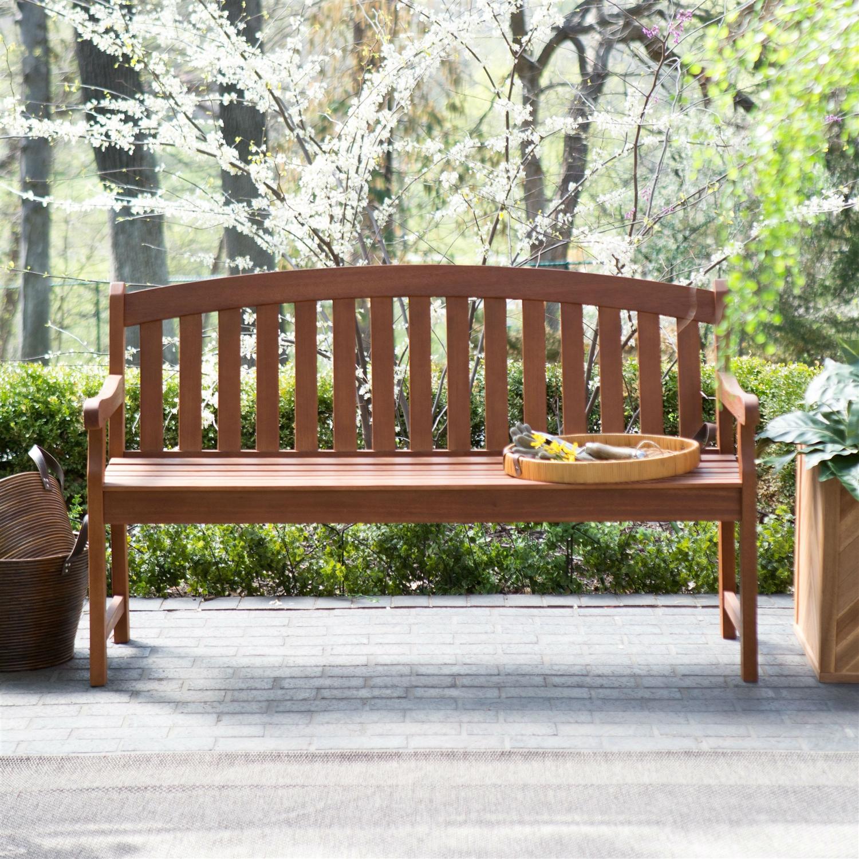 Outdoor Weather Resistant Wood 5 Ft Garden Bench In