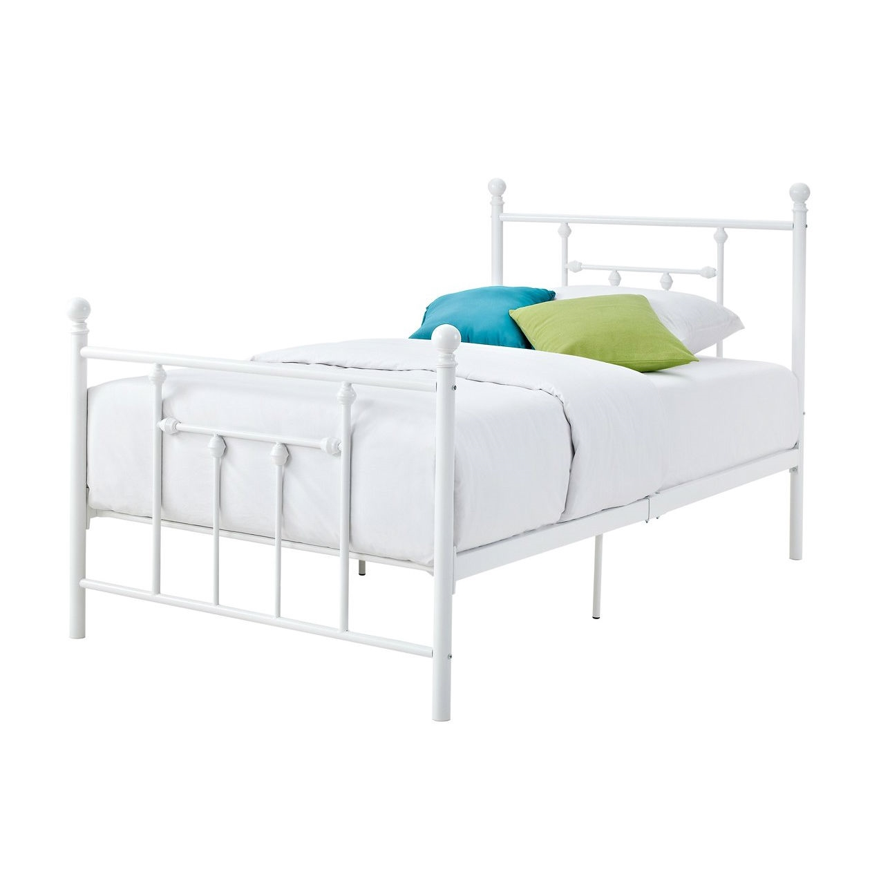 twin metal bed frame headboard footboard kjpwg