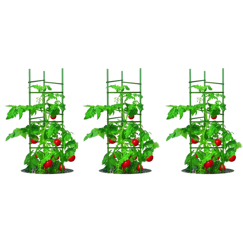 3-Pack of Tomato Plant Cage Climbing Fruit Veggie Garden Trellis ...