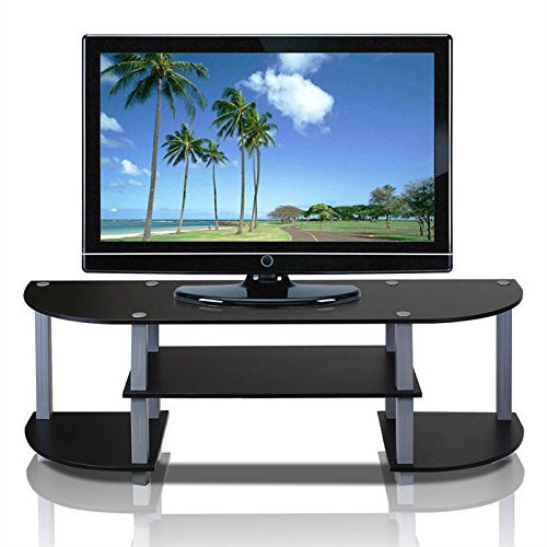 Contemporary Grey and Black TV Stand - Fits up to 42-inch TV