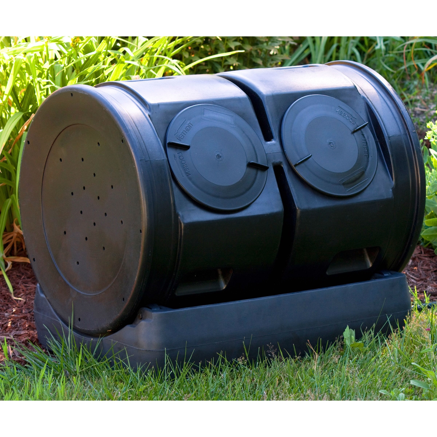 Composting Bin Tumbler With Compost Tea Collector
