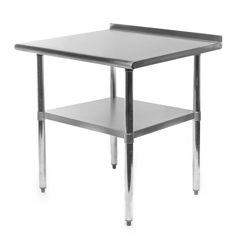 Heavy Duty 30 X 24 Inch Stainless Steel Restaurant Kitchen Prep Work Table With Backsplash Fastfurnishings Com