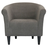 石墨灰色现代经典软垫重音扶手椅