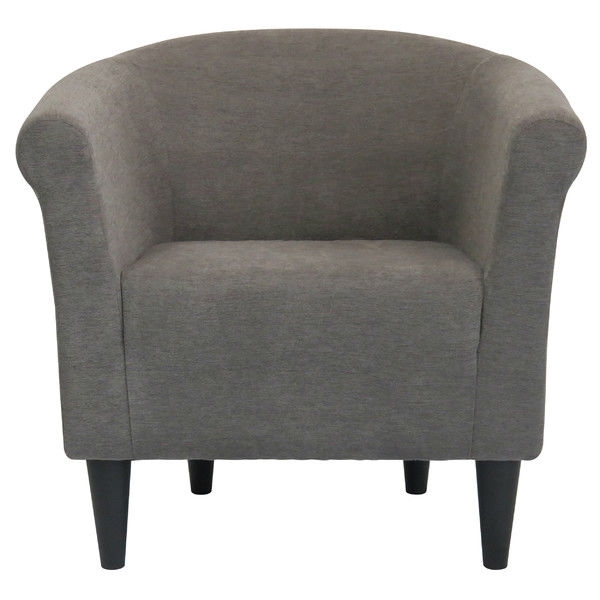 Ordinaire Graphite Grey Modern Classic Upholstered Accent Arm Chair Club Chair