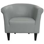 美国制造的灰色人造皮革沙发椅