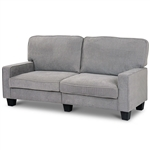 Classic Grey Fabric Loveseat Sofa with Armrests
