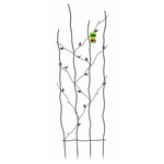 60-inch High Metal Garden Trellis with Climbing Vine Leaf Design