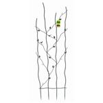 英寸高金属花园格子,带有爬藤叶片设计