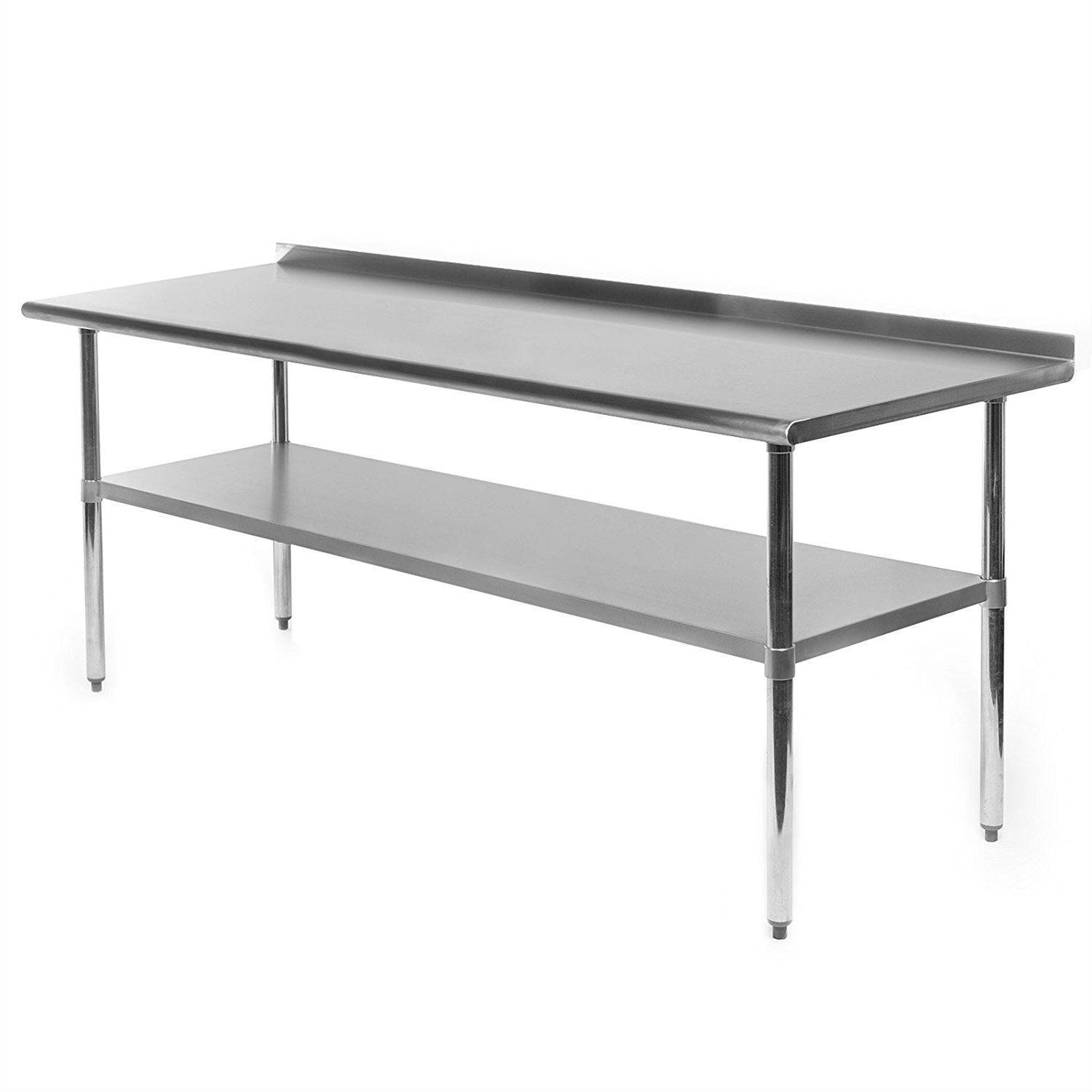 Fantastic Stainless Steel 72 X 24 Inch Kitchen Prep Work Table With Backsplash Andrewgaddart Wooden Chair Designs For Living Room Andrewgaddartcom