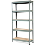 Heavy Duty 60 inch Adjustable 5-Shelf Metal Storage Rack in Gray