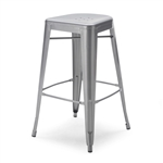 Set of 2 - Modern 30-inch Steel Bar Stools in Gun Metal Finish