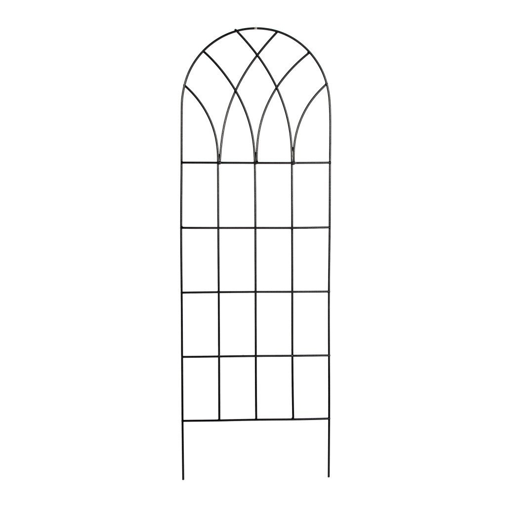 60 Inch Gothic Arch Top Metal Wall Trellis For Home Garden