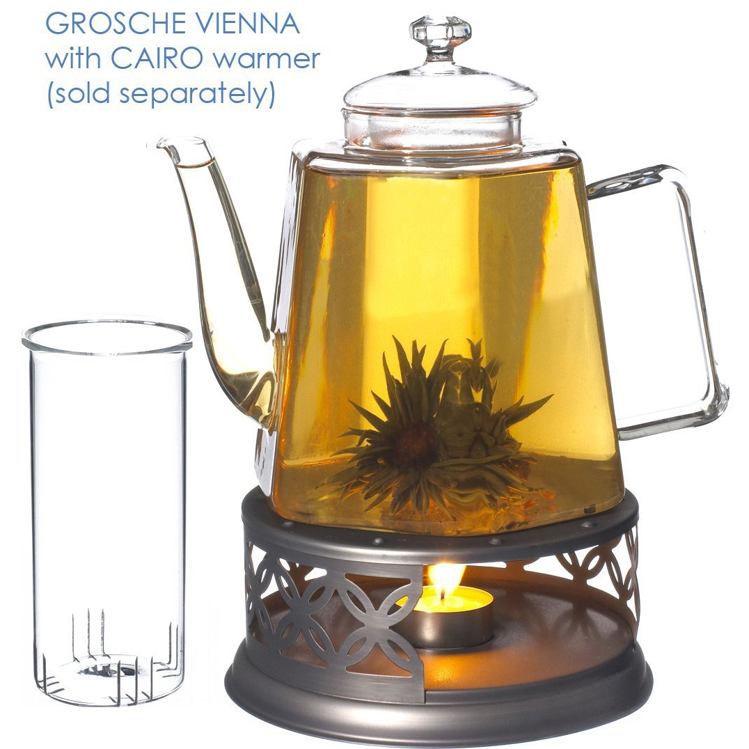 Stove Top Glass Water Boiler Kettle Teapot with Tea Infuser ...