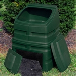 Green Heavy Duty Plastic Compost Bin - 90 Gallon Capacity