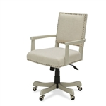Oatmeal Linen Upholstered Adjustable Height Tilt Task Chair