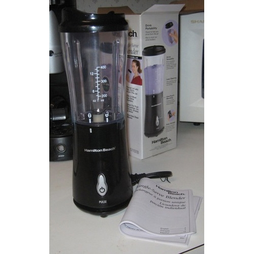 Personal Smoothie Blender With Travel Lid In Black By