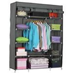 灰色英寸便携式壁橱衣柜货架单元