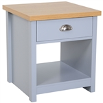 Oak Grey 1-Drawer Bedside Sofa Table Cabinet Nightstand