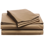 CAL King 400-TC Egyptian Cotton Sheet Set in Chestnut Brown