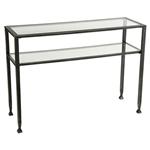 金属玻璃顶沙发桌带架子的偶尔控制台桌