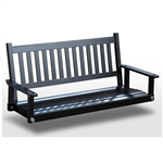 Outdoor 5-ft Porch Swing in Black Wood Finish