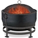 Heavy Duty Steel Cauldron Wood Burning Fire Pit with Spark Screen and Stand