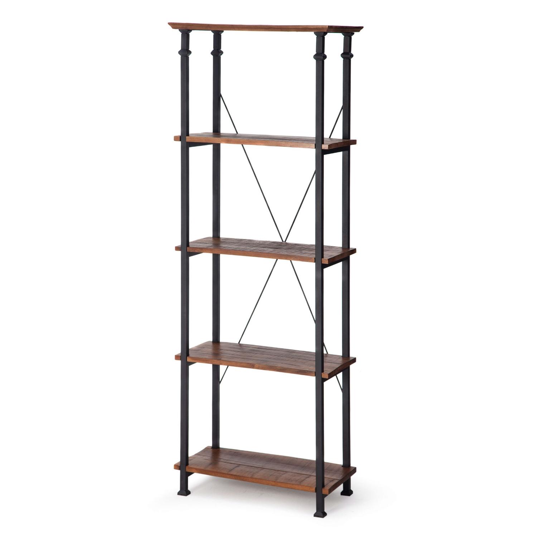 Living Room Kitchen Storage 4-Shelf Bookcase Bookshelf ...