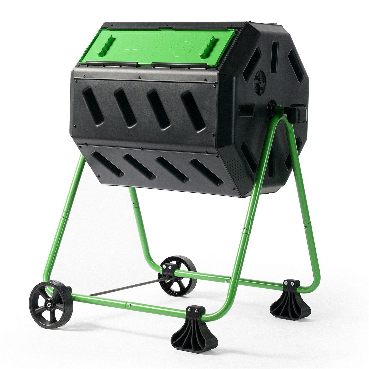 Tumbler 5-Cubic Ft Compost Bin for Home Composting with Heavy Duty Frame