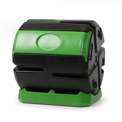 Recycled Plastic 5-Cubic Ft Compost Bin Home Garden Rolling Composter