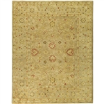 Handmade Majesty Light Brown/ Beige Wool Rug (8'3 x 11')