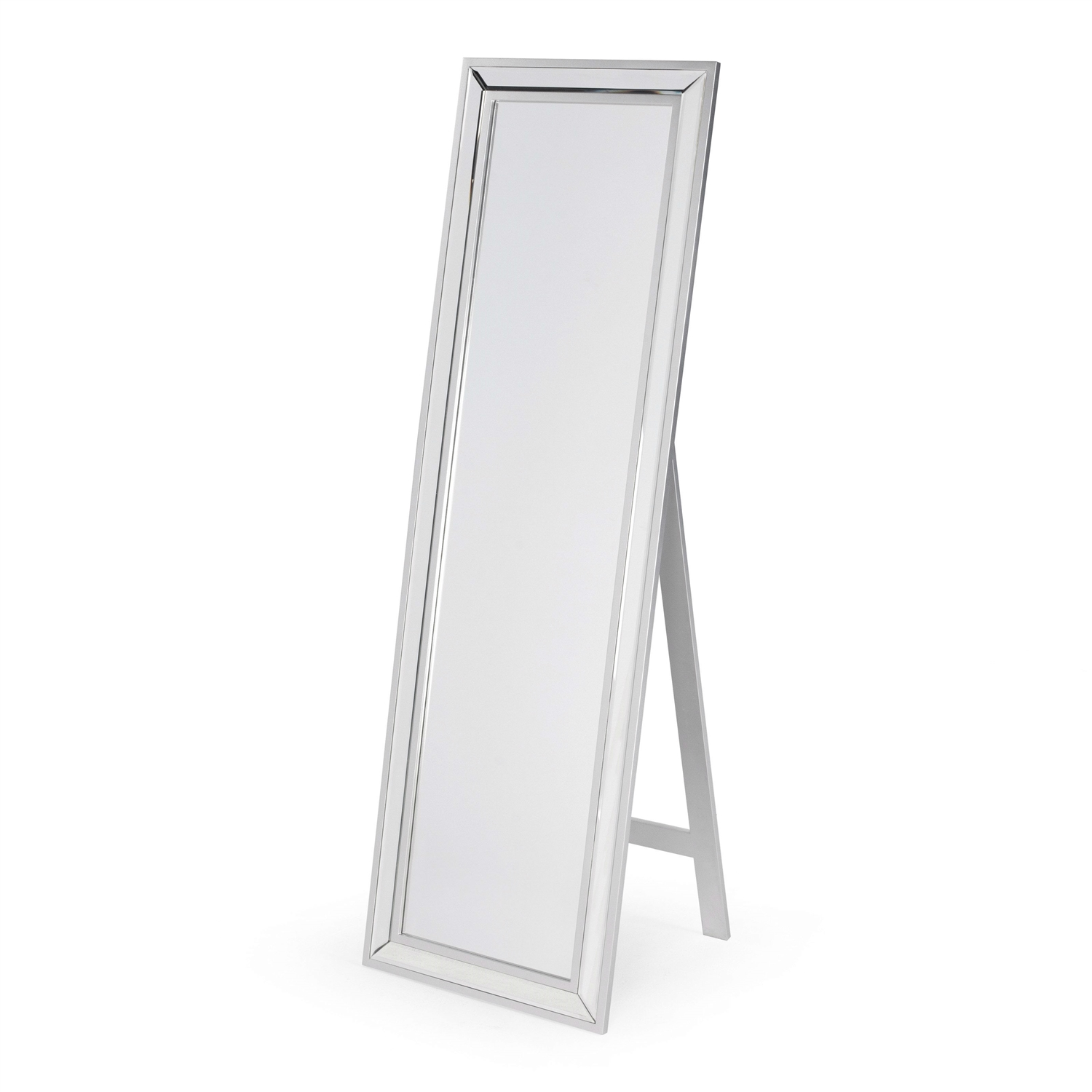 Modern Classic Art Deco Beveled Floor Mirror with Easel Style Stand ...