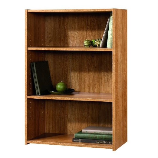 Charmant Modern Oak Finish 3 Shelf Bookcase With 2 Adjustable Shelves   Made In USA