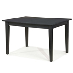 Space Saving Expandable Dining Table 48-66-inch in Ebony Black Wood Finish