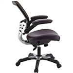 Modern Brown Mesh Back Ergonomic Office Chair  with Flip-up Arms