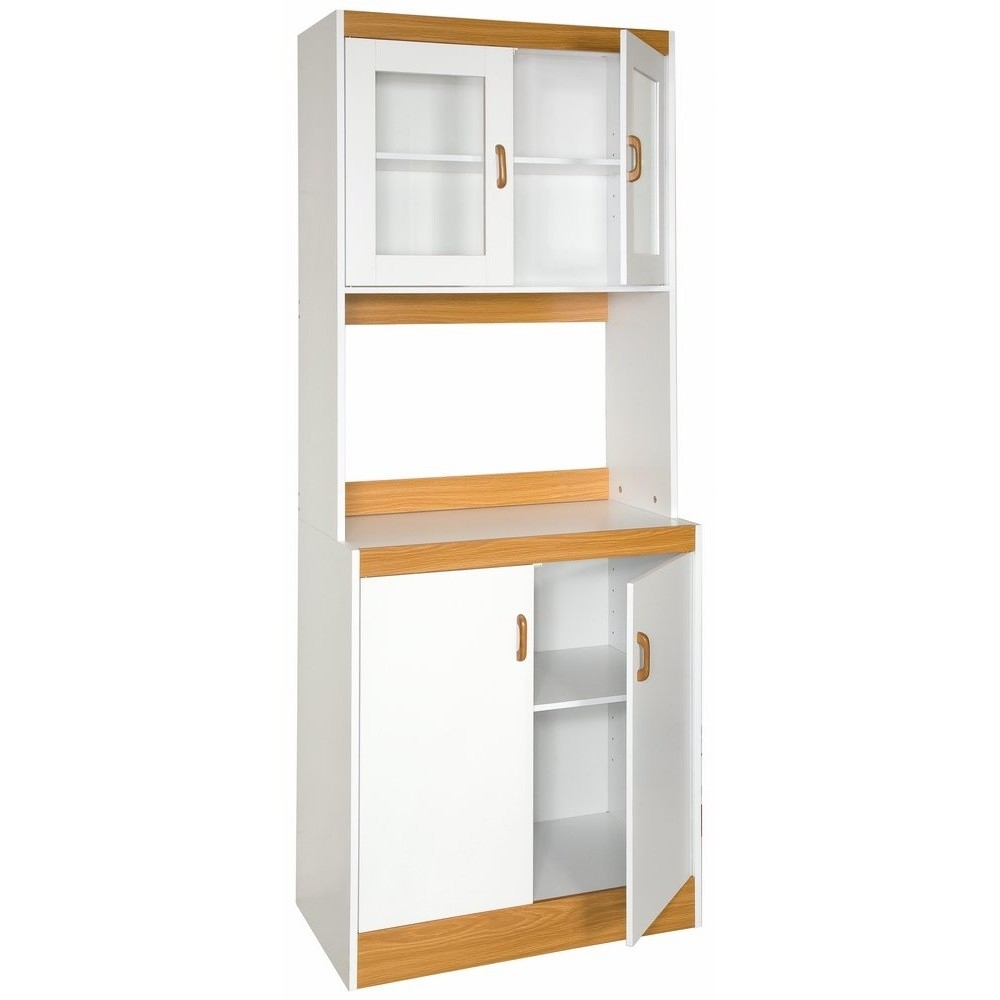 Tall Kitchen Storage Units: Tall Kitchen Storage Cabinet Cupboard With Microwave Space
