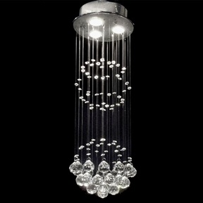Indoor 3-light Chrome/ Crystal Ball Chandelier