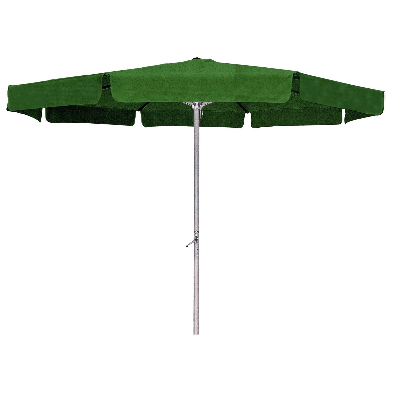 Forest Green 8 Ft Patio Umbrella With Aluminum Pole And Crank Tilt