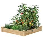 4 ft x 4 ft Cedar Wood Raised Garden Bed - Made in USA