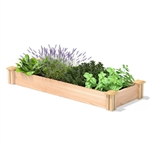 16 in x 48 in Low Profile Cedar Raised Garden Bed - Made In USA