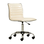 Heavy Duty Beige Channel-Tufted Conference Chair