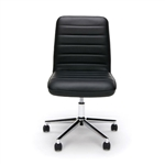 Black Upholstered Lumbar Support Heavy Duty Conference Chair