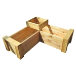 Cedar Multi-Level L-Shaped Planter
