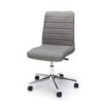 Gray Upholstered Lumbar Support Heavy Duty Conference Chair