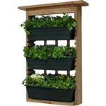 3 Piece Indoor/Outdoor Wood Wall Planter Vertical Garden