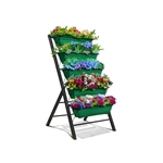 4 FT 5 Tier Green Vertical Garden Indoor/Outdoor Elevated Planter