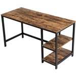 55 Inch Industrial Wood Metal Computer Writing Desk Left or Right Facing